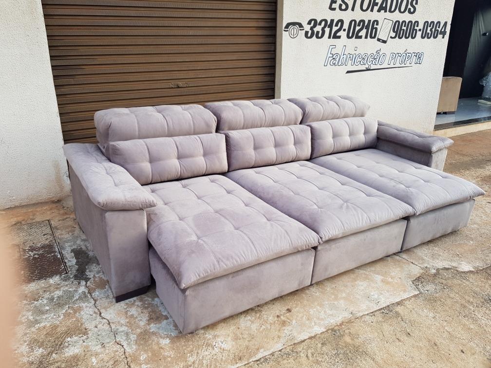 Sofa Retratil E Reclinavel 3 Metros Somente Parana - R$ 2 ...