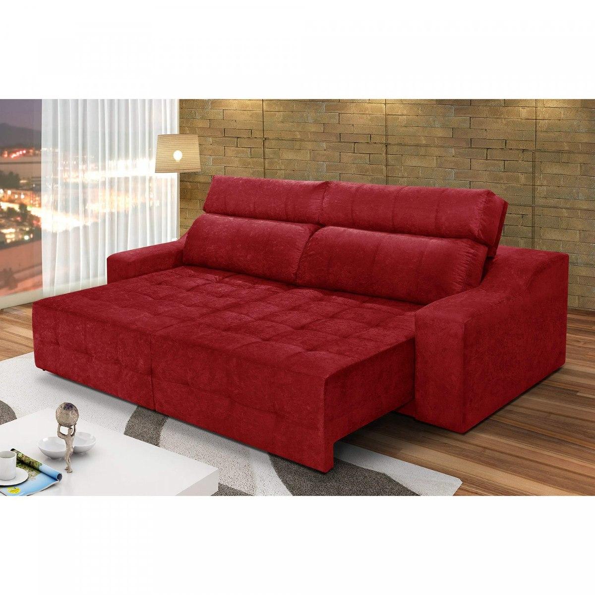 a72053fbd Sofa Vermelho Com Almofadas Sof 225 4 Lugares Connect - OneLetter.CO