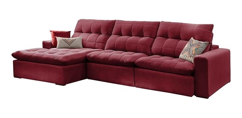 Superb Sofa Retratil E Reclinavel 6 Lugares Bordo Com Chaise Octans Evergreenethics Interior Chair Design Evergreenethicsorg
