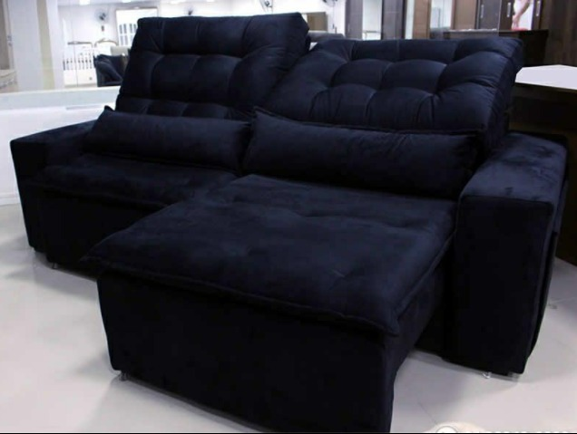 Sofa Retratil E Reclinavel Dubai 41 2 30m Tecido Suede R 1 840
