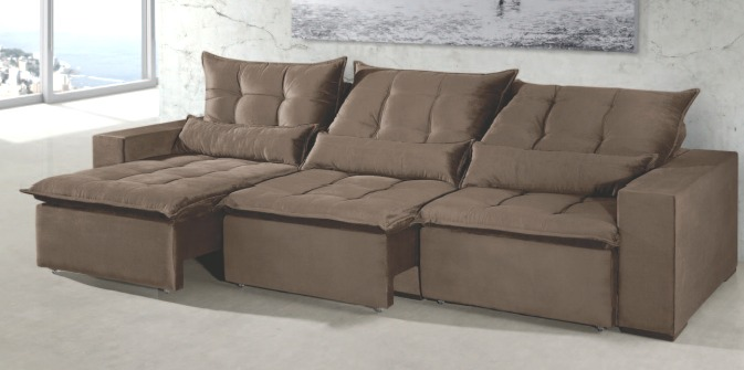 Sof retr til reclin vel 5 lugares 3 20 metros r for Sofa 03 lugares retratil e reclinavel