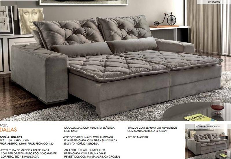 Sofa Retratil Reclinavel Dallas Frete Es R 2 180 00 Em Mercado