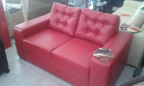 sofá - sillón 2 cuerpos minimalista industria nacional