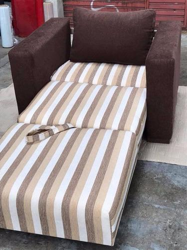 sofa sillón cama de 1 plaza en chenille