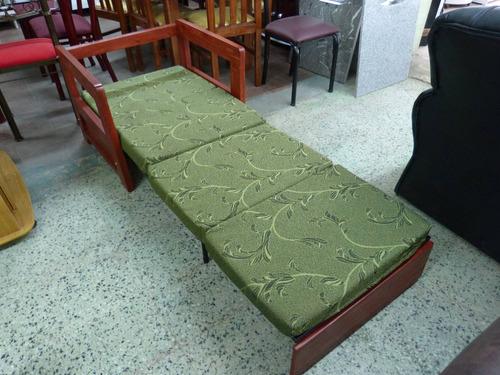 sofa sillon cama plegable de 1 plaza en madera