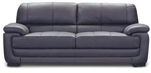 sofa sillon en cuero vacuno 3 cuerpos