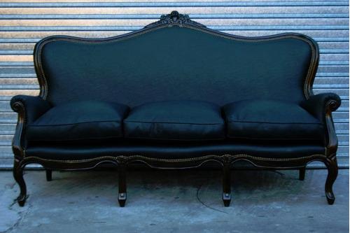 sofa sillon estilo colonial ingles de 3 cuerpos