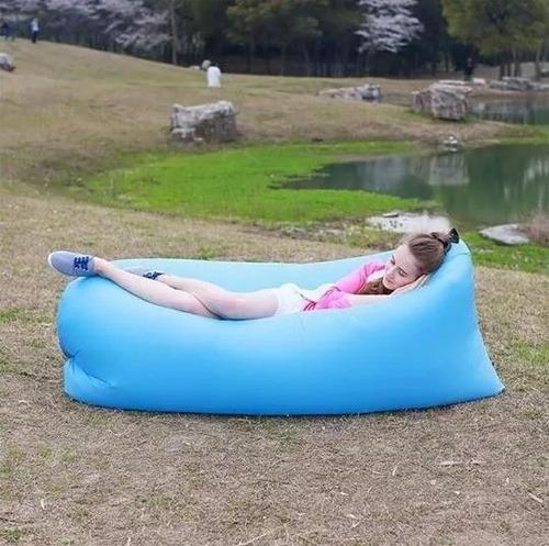 sofa sillon inflable portatil cama playa camping itelsistem