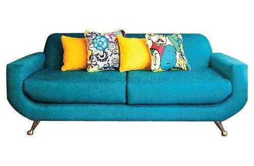 sofa sillon vintage 60s retro corderoy o tela placa sof
