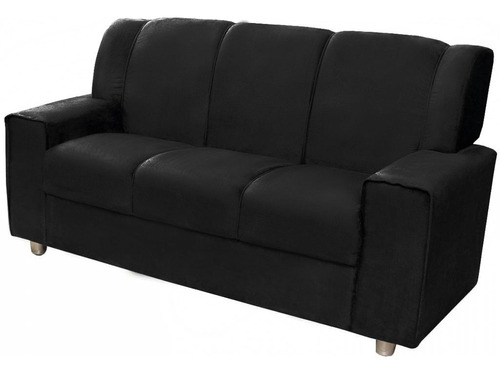 sofa simil cuero 3 cuerpos mi casa