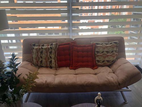 sofa sofacama microfibra beige