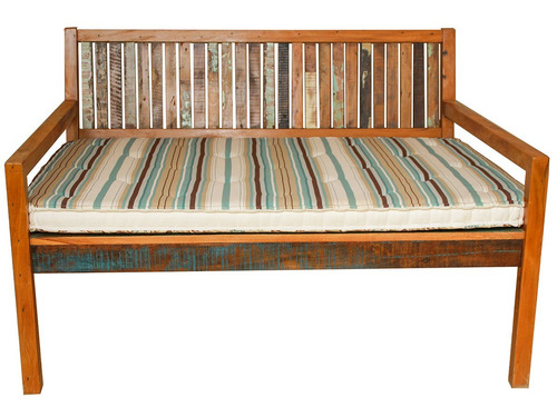 sofá surubão 1,40 x 1,05 madeira demolição maciça com futons