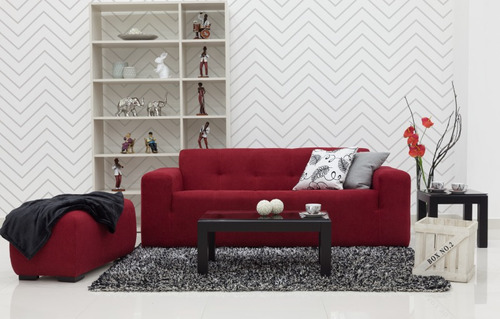 sofá tapizado moderno y cómodo de 3 puestos - cádiz