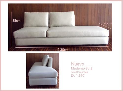 sofá tres cuerpos nuevo