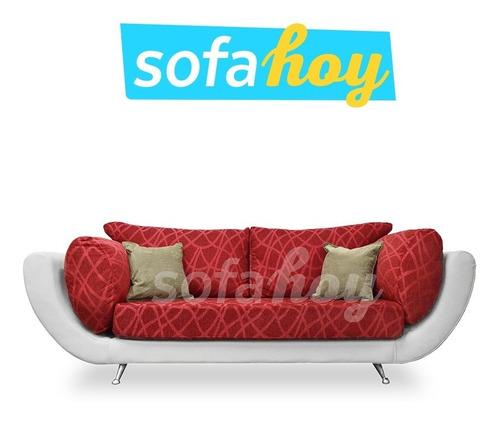 sofa turín sillon living 3 cuerpos chenille eco cuero