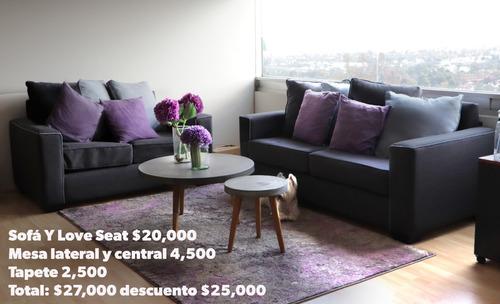 sofá y love seat casa de las lomas gris