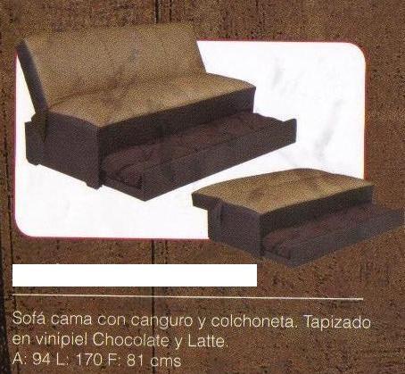 Sofacama canguro color chocolate 4 en mercado for Cuanto cuesta un sofa cama