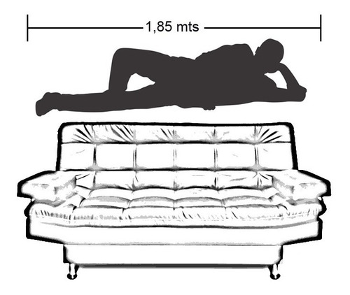 sofacama carvallo lux 3 posiciones lino vinotinto