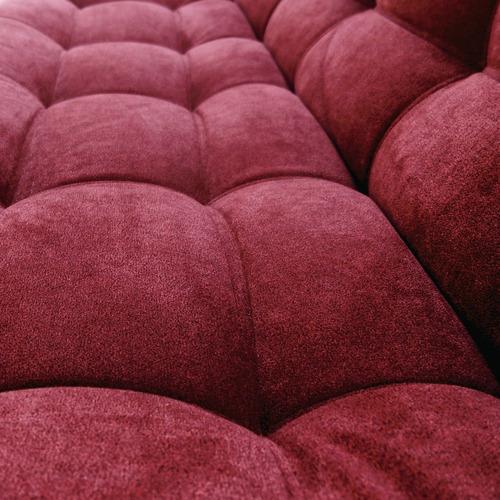 sofacama carvallo plain 3 posiciones tela vinotinto