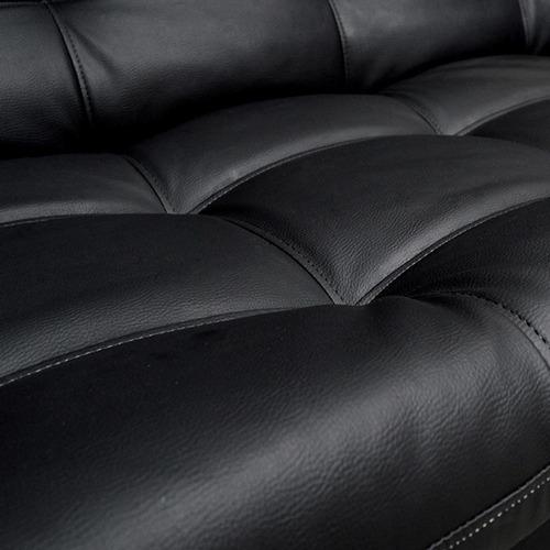 sofacama clic clac carvallo plain tipo cuero negro