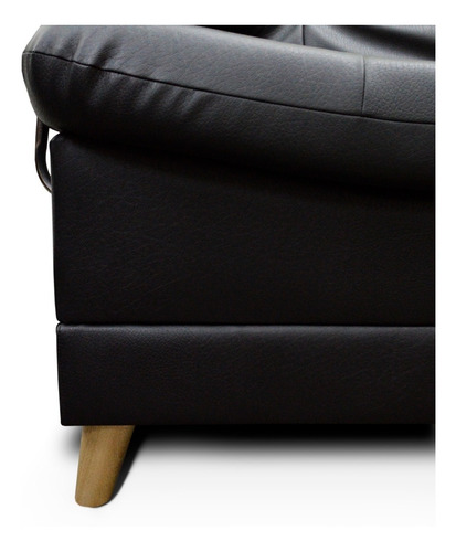 sofacama dolce 3 posiciones clic clac tipo cuero negro/cafe