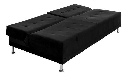 sofacama dual tela negro
