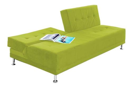 sofacama dual tela verde