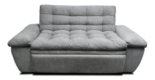 sofacama multifuncional mirano con pillow tela gris