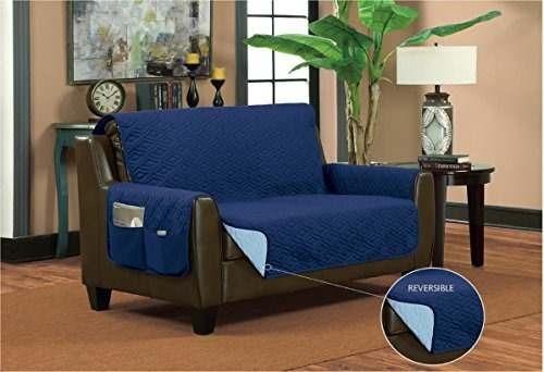 sofaguard cubierta protectora para sofá, modelo doble, azul