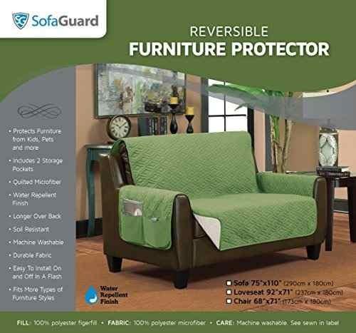 sofaguard cubierta protectora para sofá, modelo sofa, verde
