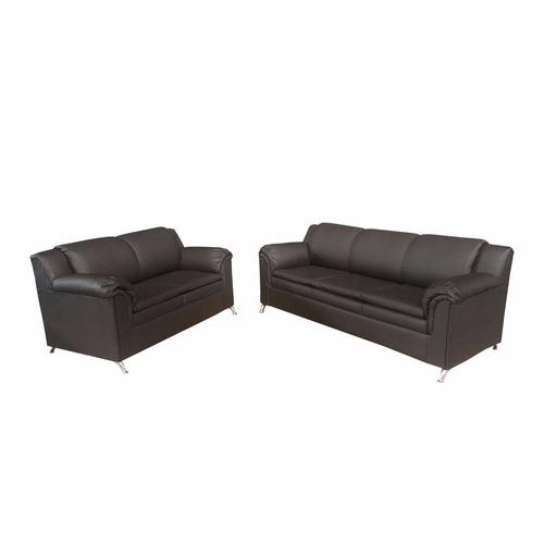 sofás de 2 y 3 puestos recibo  en semicuero bipiel  muebles