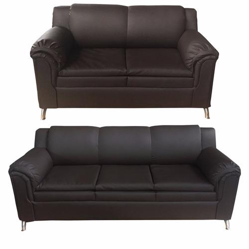 sofás de 2 y 3 puestos recibos  en semicuero bipiel  muebles