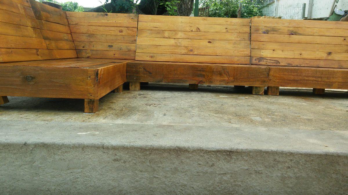 sofas esquineros rsticos madera