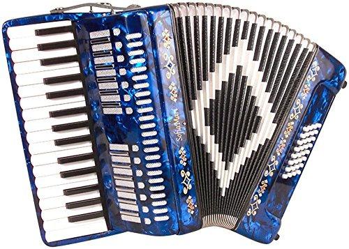 sofiamari sm piano 32 bajo acordeón azul oscuro perla