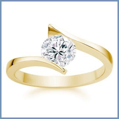 sofisticado anillo de compromiso oro 10k blanco envio gratis