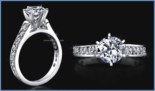 sofisticado anillo de compromiso oro blanco 10k envio gratis