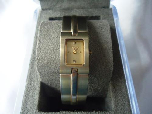sofisticado relógio pulso dkny original máquina suíça,déc.90