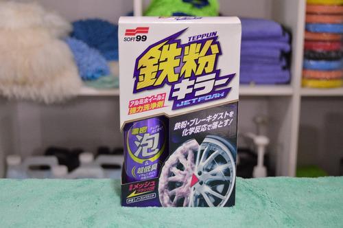soft 99 espuma jet - limpiador de llantas