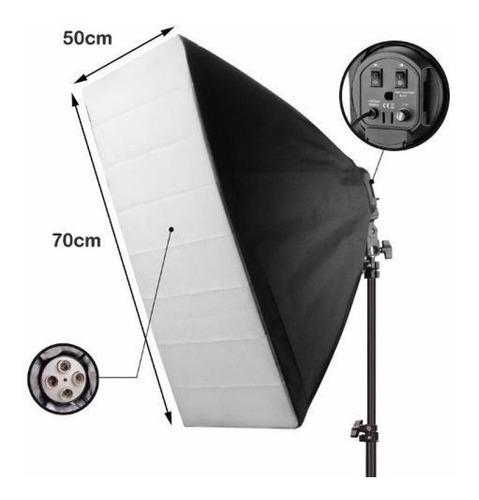 soft-box 50x70 suporte girafa 40x40c luz continua 510w 5500k