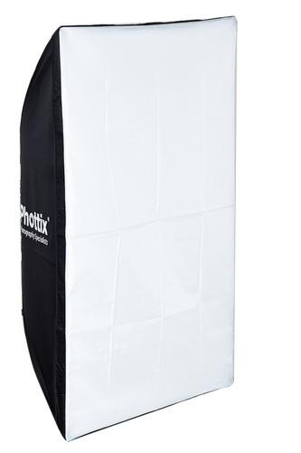 soft box caja de luz 70x100cm phottix encastre t/ bowens