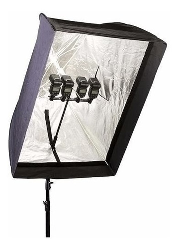 soft box caja luz 90x120 cm phottix plegable tipo sombrilla
