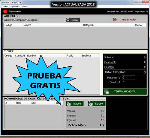 soft kiosco control caja stock + demo + app (opcional)