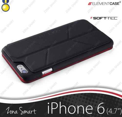 soft tec iphone 6 (4.7) flip cover elementcase elegante