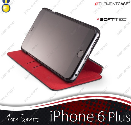 soft tec iphone 6splus (5.5) flip cover elementcase elegante