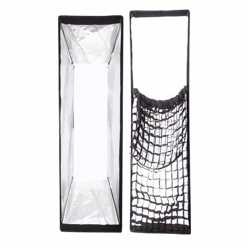 softbox 35 x 160 cm con grid para bowens estudio fotografico