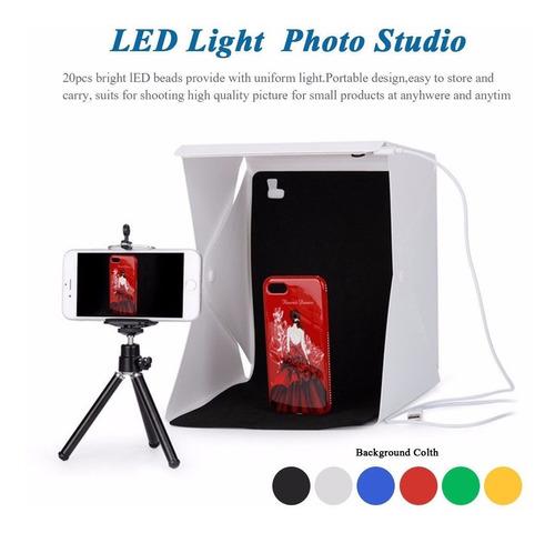 softbox caja de luz sinfín luz led fotografía envío gratis 3