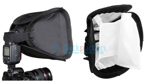softbox diffuser para flash speedlite 23x23+envio