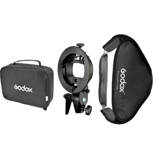 softbox godox caja suavizadora 60x60 c/bracket p/speedlite