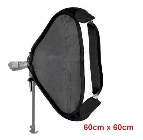 softbox p/ flash speedligh 60x60 universal canon nikon penta