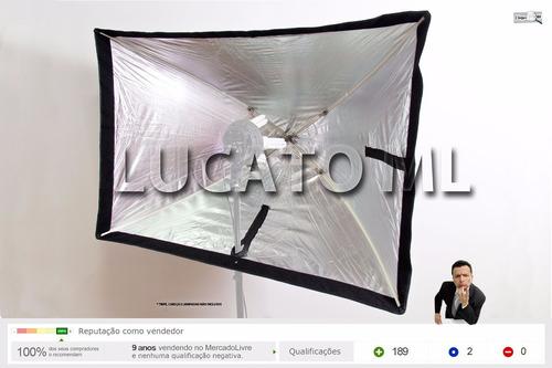 softbox tipo sombrinha 80x120 para iluminação foto video |np